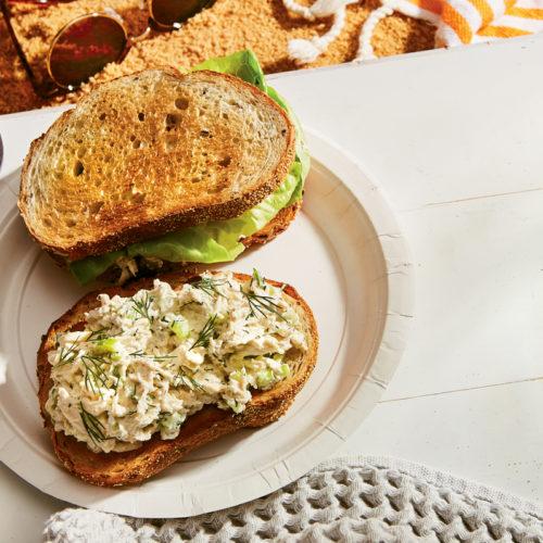 southern chicken salad sandwich